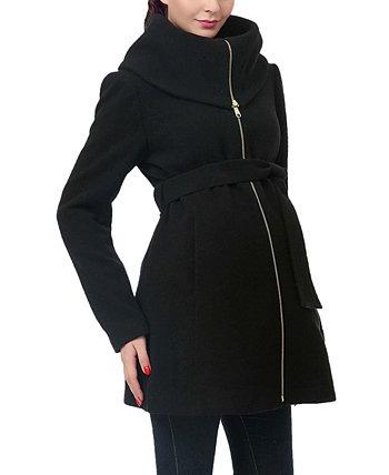 Пальто Mia с отложным воротником из смесовой шерсти для беременных Kimi + kai