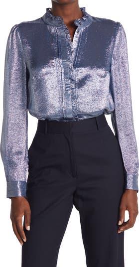 Блуза с металлической отделкой и оборками Liddy REISS