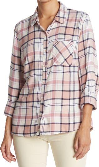 Роскошная фланелевая рубашка на пуговицах с баской сзади Como Vintage