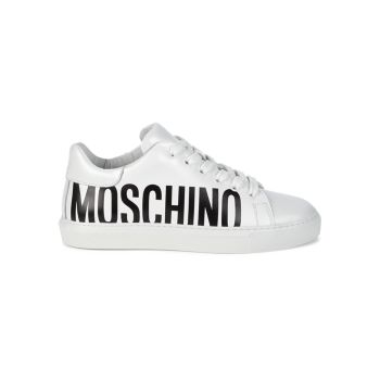 Leather Logo Sneakers Moschino