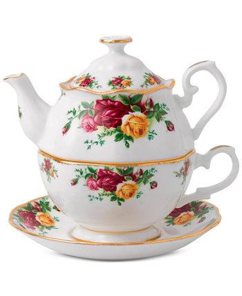 Чай из старых деревенских роз за один набор Royal Albert