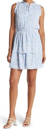 Мини-платье со сборками и оборками с цветочным принтом и рюшами Collective Concepts