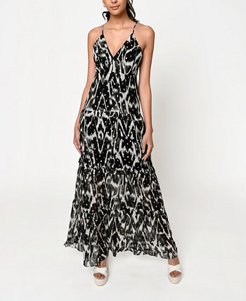 Women's Ikat Maxi Dress Nicole Miller