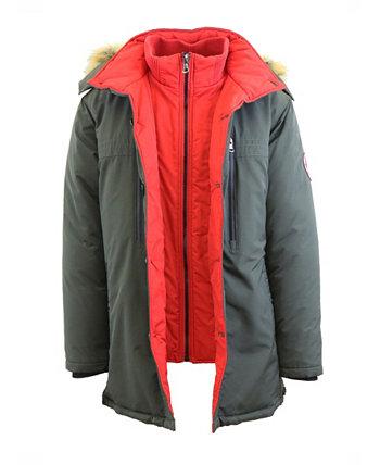 Мужская двухслойная длинная куртка с капюшоном в тяжелом весе с капюшоном Galaxy By Harvic