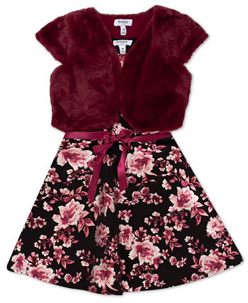 Big Girls Floral Dress with Cropped Cardigan Set, 2 Piece Speechless
