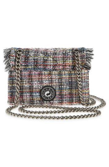 Миниатюрная твидовая сумка через плечо Kensington с потертостями Kurt Geiger London