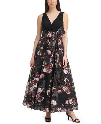 Бальное платье Petite без рукавов с V-образным вырезом Eliza J