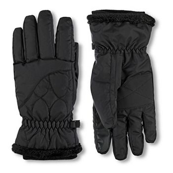 Women's isotoner Insulated Waterproof Ski Gloves with Sherpa Trim ISOTONER
