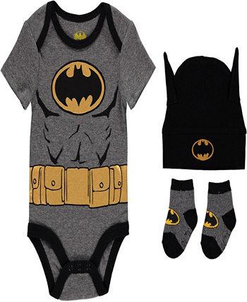 Комплект боди с Бэтменом для маленьких мальчиков, 3 предмета HAPPY THREADS