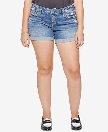 Джинсовые шорты большого размера Sam Boy Fit-Fit Silver Jeans Co.