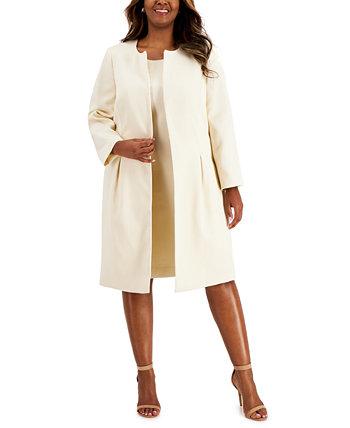 Plus Size Topper-Jacket Jacquard Dress Suit Le Suit