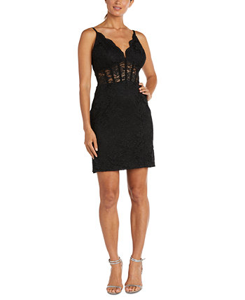 Кружевное платье-бюстье с блестками для юниоров Morgan & Company