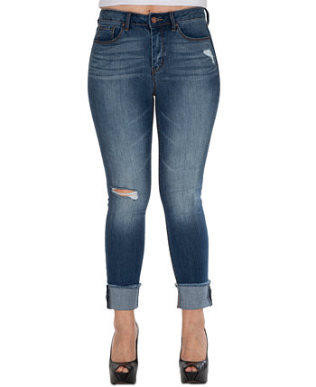 Рваные джинсы скинни с широкими манжетами Sound/Style