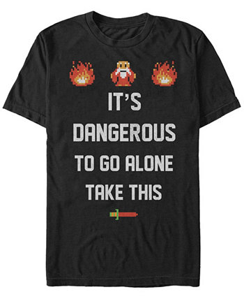 Мужская футболка с надписью Legend of Zelda - опасно идти в одиночку Nintendo