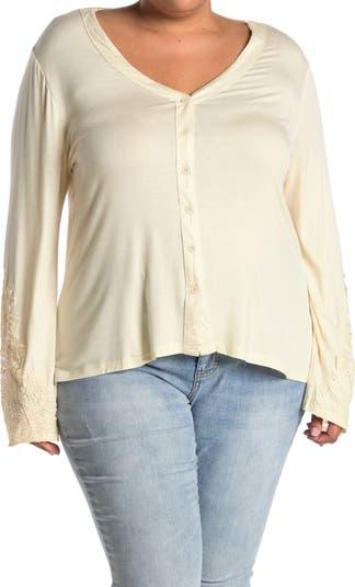 Кружевная блузка с расклешенными рукавами Forgotten Grace