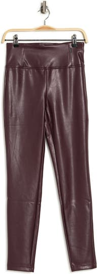 Pull-On Vegan Leather Pants Laundry by Shelli Segal