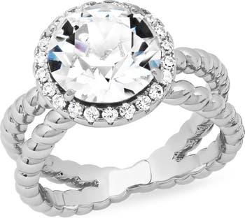 Кольцо с витым кристаллом на хвостовике HMY Jewelry