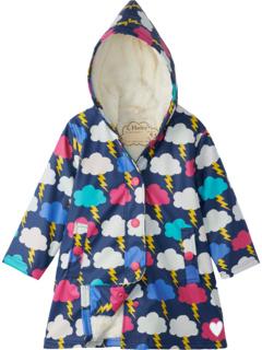 Lightening Clouds Sherpa Lined Splash Jacket (Toddler/Little Kids/Big Kids) Hatley Kids