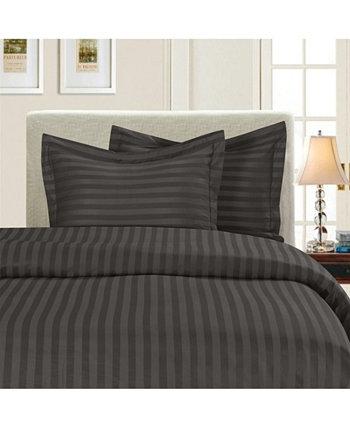 Роскошный шелковистый - мягкий комплект пододеяльника в полоску из 2 частей, без морщин, Twin / Twin XL Elegant Comfort