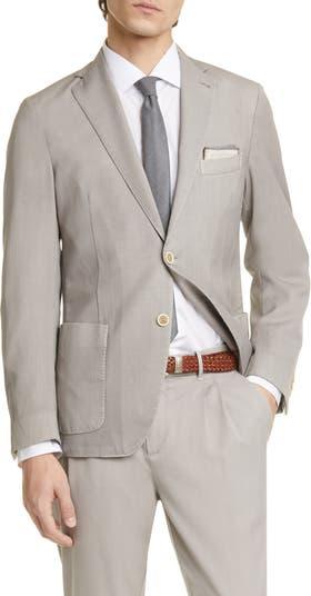 Trim Fit Washed Wool Sport Coat Eleventy