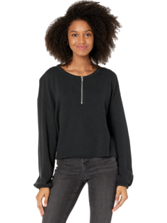 Cashmere Fleece Blouson Sleeve 1/2 Zip Pullover Chaser