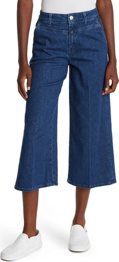 Rosy Wide Leg Cropped Jeans CLOSED