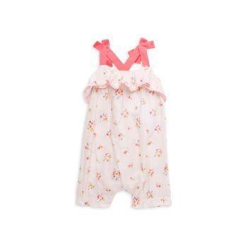 Комбинезон для маленьких девочек с оборками и цветочным рисунком Miniclasix