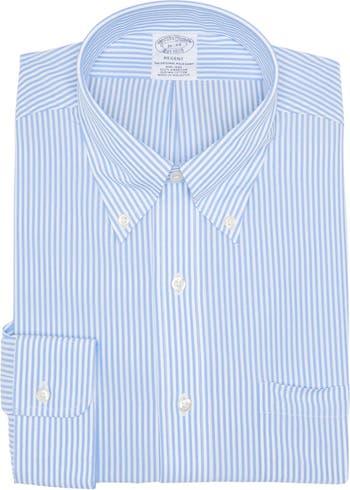 Полосатая рубашка Regent Fit из хлопчатобумажной ткани Supima без железа Brooks Brothers