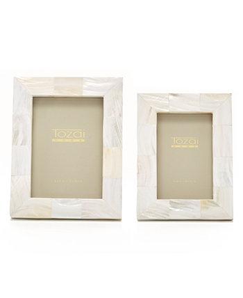 Жемчужно-белые рамки, набор из 2 шт. Two's Company