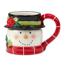 Certified International Holiday Magic Santa 4-pc. 3D Mug Set Certified International