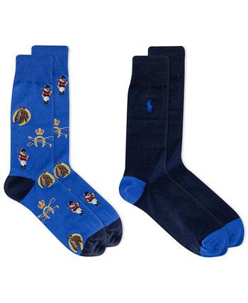 Мужские носки с медведем для верховой езды, 2 пары Ralph Lauren