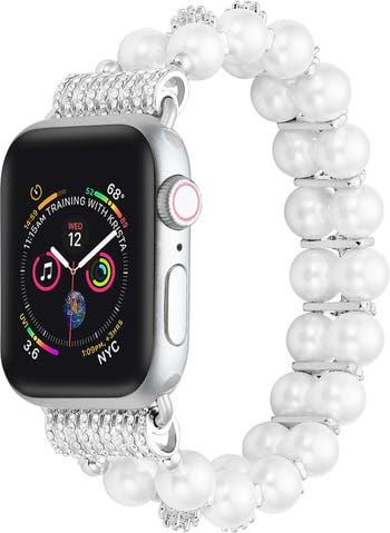 Сменный ремешок для Apple Watch скинни с искусственным жемчугом - 42 мм / 44 мм POSH TECH