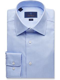 Подходящая королевская оксфордская классическая рубашка David Donahue
