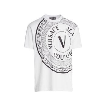 Футболка с логотипом Emblem Versace Jeans Couture