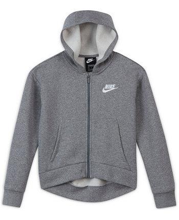 Big Girls Sportswear Club Fleece Full-Zip Hoodie, Extended Sizes Nike
