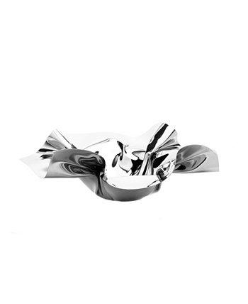 14-дюймовая круглая сервировочная тарелка из нержавеющей стали с рюшами Classic Touch