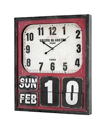 Крупногабаритные настенные часы и календарь American Art Decor Crystal Art Gallery