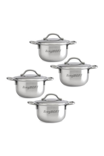 Cov'd Mini Pots - Set of 4 BergHOFF