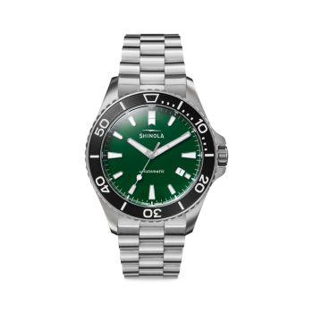 Часы Lake Ontario Monster с автоматическим браслетом из нержавеющей стали Shinola