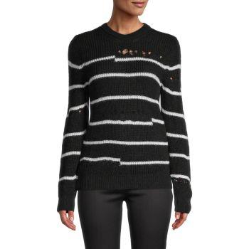 Вязаный свитер в полоску Pointelle IRO
