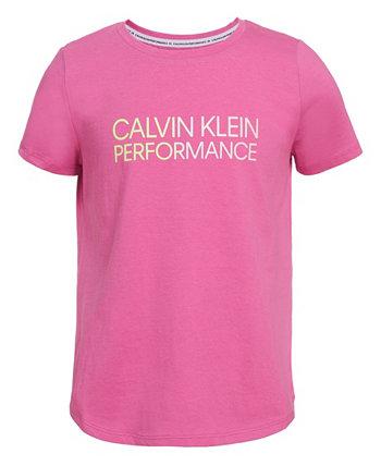 Футболка Big Girls с градиентным логотипом Calvin Klein