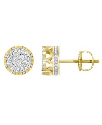 Мужская серьга-гвоздик с бриллиантом (1/2 карата) из желтого золота 10 карат Macy's