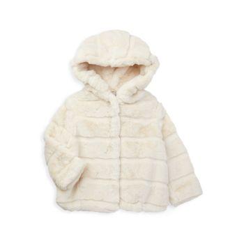 Детское пальто из искусственного меха Goldie для девочек и девочек APPARIS