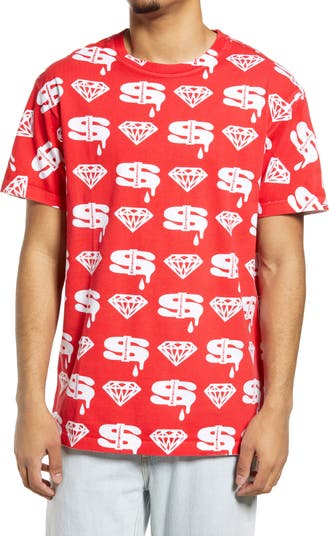 Мужская футболка с изображением бриллиантов и долларов Icecream ICE CREAM