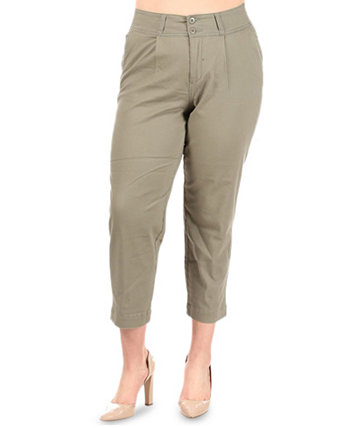 Plus Trendy Cropped Pants Celebrity Pink