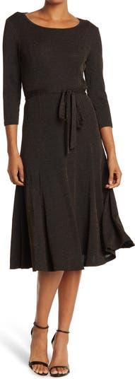 Lurex Sylvia Midi Dress Nina Leonard
