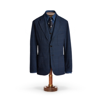 Спортивное пальто Indigo Windowpane Ralph Lauren