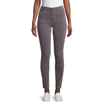 Бархатные джинсы скинни Maria с высокой посадкой J Brand