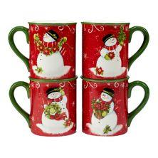 Certified International Holiday Magic Santa 4-pc. Mug Set Certified International