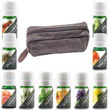 Дорожный чемодан с эфирным маслом Aroma2Go, десять чистых эфирных масел и дорожный кейс из конопли - оливковый Aroma2Go